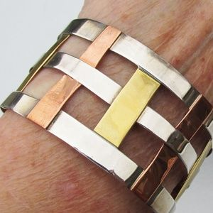 RLM Studios Sterling, Copper Wide Cuff Bracelet